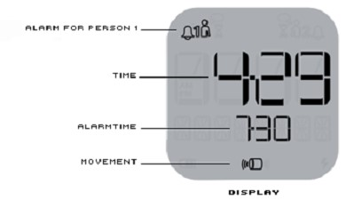 Axbo Schlafphasenwecker Display
