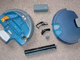 iRobot Scooba in Einzelteilen Ansicht für die Reinigung